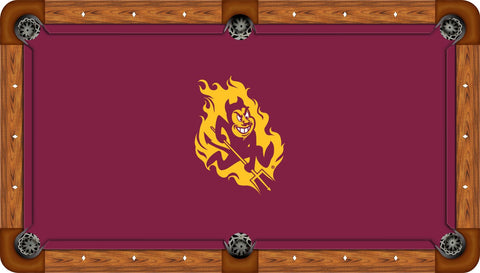 Arizona State Pool Table Felt with Gold Sparky