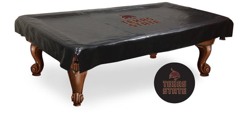 Texas State Bobcats Billiard Table Cover