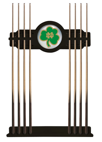Notre Dame Shamrock Cue Rack in Black