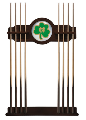 Notre Dame Shamrock Cue Rack in English Tudor