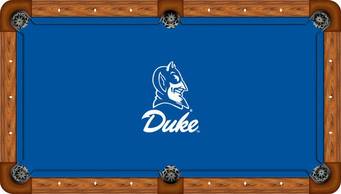 Duke Wool Pool Table Felt - Devil Head on Blue