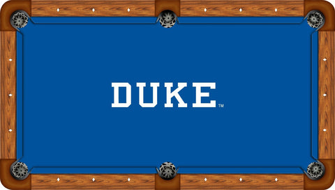 Duke Wool Pool Table Felt - Logo on Blue
