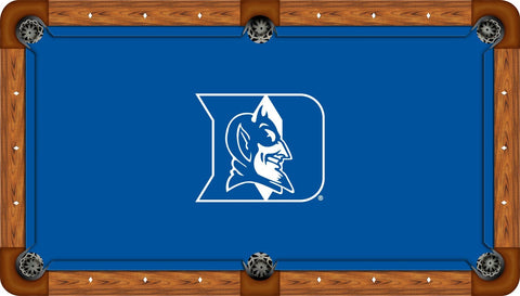 Duke Wool Pool Table Felt - D Logo on Blue