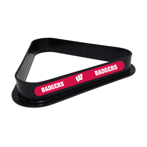Wisconsin Badgers Plastic 8 Ball Rack
