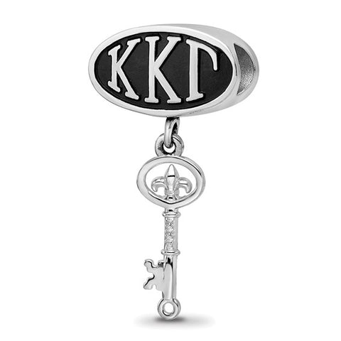 KAPPA KAPPA GAMMA OVAL BEAD KEY DANGLE