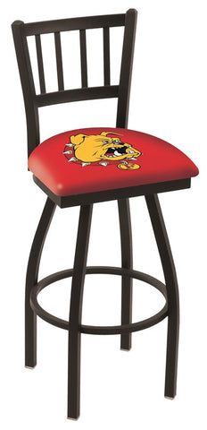 Ferris State Bulldogs Jail Back Bar Stool 25""