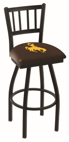 Wyoming Cowboys Jail Back Bar Stool 30""