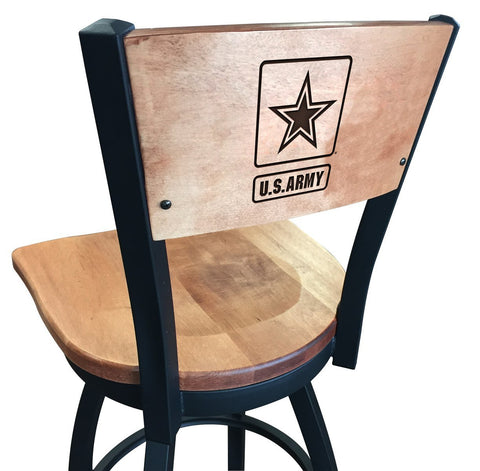 "Army Black Knights 25"" Counter Stool"