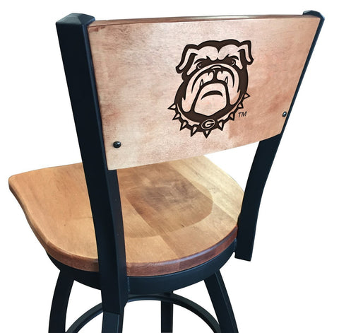 "Georgia Bulldogs ""Bulldog"" Logo 25"" Counter Stool"