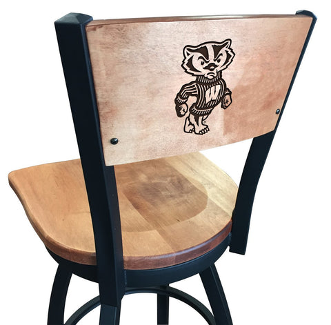 "Wisconsin Badgers ""Badger"" Logo 25"" Counter Stool"