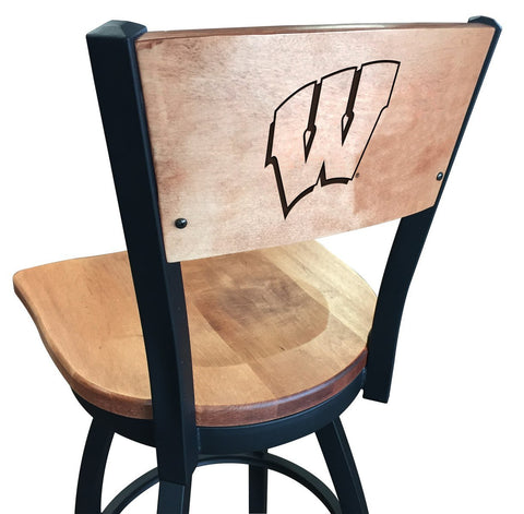 "Wisconsin Badgers ""W"" Logo 25"" Counter Stool"