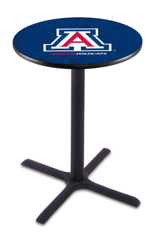 "Arizona Wildcats Pub Table Black Cross Base 36"" High"