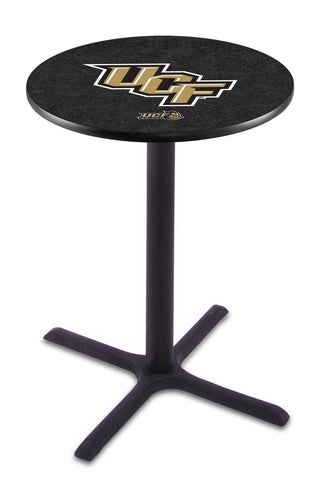 "Central Florida Knights Pub Table Black Cross Base 42"" High"