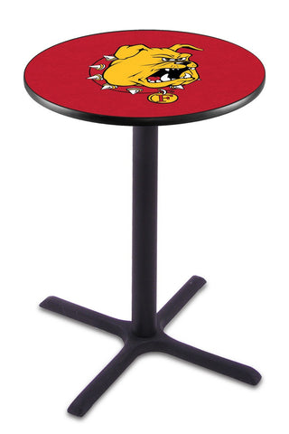 "Ferris State Bulldogs Pub Table Black Cross Base 36"" High"