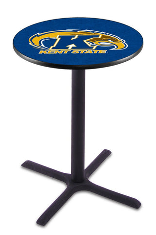"Kent State Golden Flashes Pub Table Black Cross Base 36"" High"