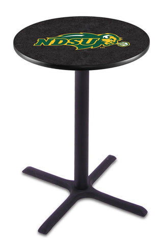 "North Dakota State Bison Black Pub Table Black Cross Base 42"" High"