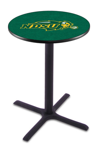 "North Dakota State Bison Pub Table Black Cross Base 42"" High"