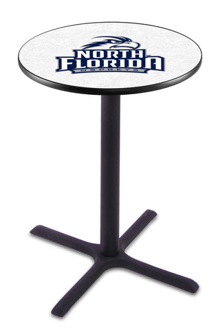 "North Florida Ospreys Pub Table Black Cross Base 36"" High"