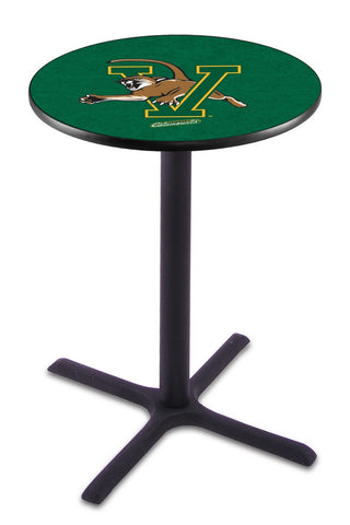 "Vermont Catamounts Pub Table Black Cross Base 42"" High"