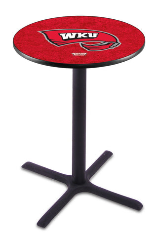 "Western Kentucky Hilltoppers Pub Table Black Cross Base 36"" High"