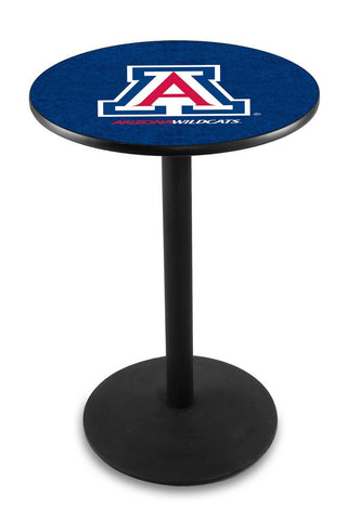"Arizona Wildcats Pub Table Black Wrinkle Base 36"" High"