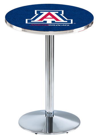 "Arizona Wildcats Pub Table Chrome Round Base 42"" High"