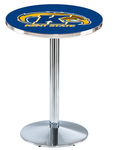 "Kent State Golden Flashes Pub Table Chrome Round Base 36"" High"