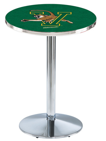 "Vermont Catamounts Pub Table Chrome Round Base 36"" High"