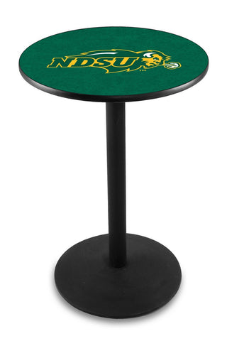 "North Dakota State Bison Pub Table Black Wrinkle Base 36"" High"