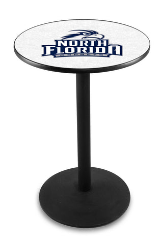 "North Florida Ospreys Pub Table Black Wrinkle Base 42"" High"