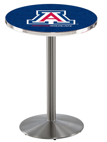 "Arizona Wildcats Pub Table Stainless Steel Base 36"" High"