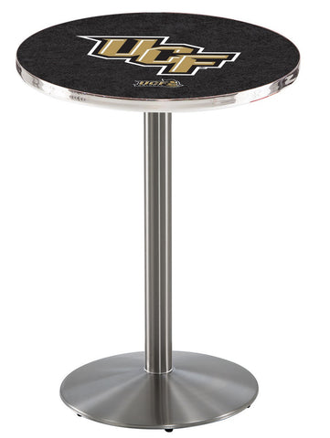 "Central Florida Knights Pub Table Stainless Base 42"" High"