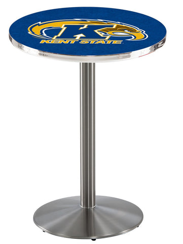 "Kent State Golden Flashes Pub Table Stainless Base 36"" High"
