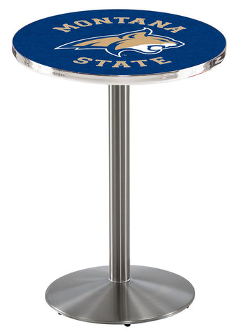 "Montana State Bobcats Pub Table Stainless Base 42"" High"