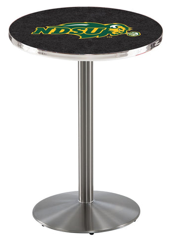 "North Dakota State Bison Pub Table Stainless Base 36"" High"