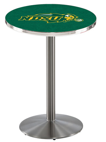 "North Dakota State Bison Pub Table Stainless Base 42"" High"