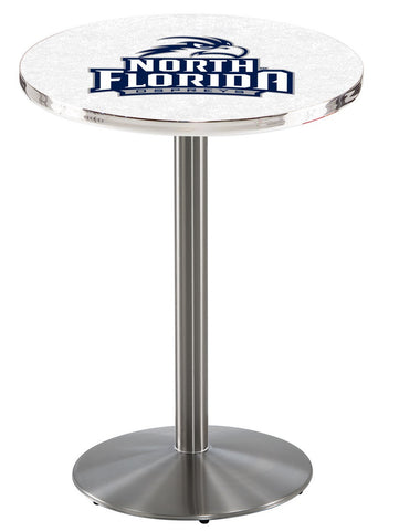 "North Florida Ospreys Pub Table Stainless Base 42"" High"