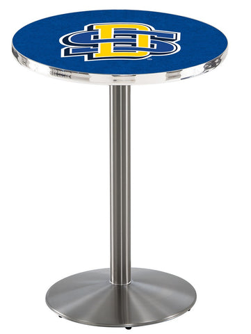 "South Dakota State Jackrabbits Pub Table Stainless Base 36"" High"