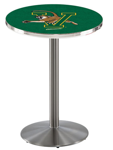 "Vermont Catamounts Pub Table Stainless Base 42"" High"
