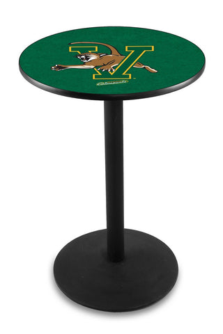 "Vermont Catamounts Pub Table Black Wrinkle Base 36"" High"