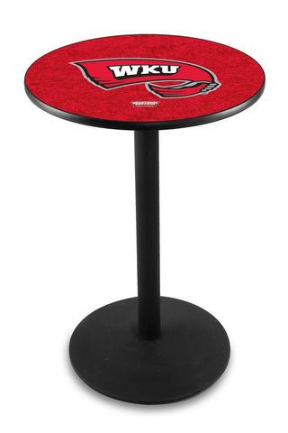 "Western Kentucky Hilltoppers Pub Table Black Wrinkle Base 42"" High"