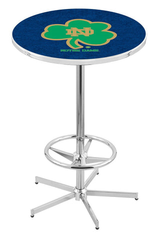 "Notre Dame  (Shamrock) Pub Table Foot Ring 42"" High"