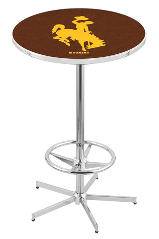 "Wyoming Cowboys Pub Table Foot Ring 42"" High"