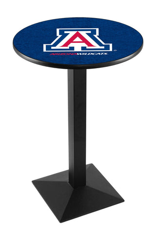 "Arizona Wildcats Pub Table Black Square Base 36"" High"