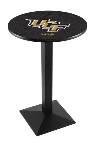 "Central Florida Knights Pub Table Black Square Base 42"" High"