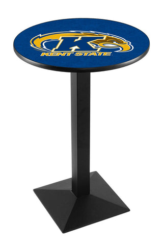 "Kent State Golden Flashes Pub Table Black Square Base 36"" High"