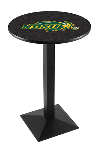 "North Dakota State Bison Pub Table Black Square Base 36"" High"