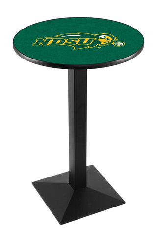 "North Dakota State Bison Pub Table Black Square Base 42"" High"