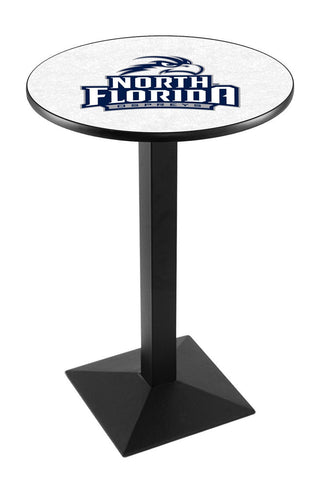 "North Florida Ospreys Pub Table Black Square Base 36"" High"