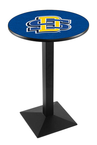 "South Dakota State Jackrabbits Pub Table Black Square Base 42"" High"